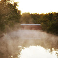 Sachs Covered Bridge In The Mist by Bill Cannon