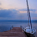 Sailboat And Dock by Steven Ainsworth