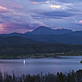 Sailboat On Lake Dillon Below A Clearing Storm, Colorado, Usa, August 2010 by Timothy Faust