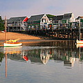 Sailboats And Harbor Waterfront Reflections by Roupen  Baker
