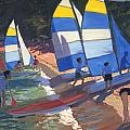 Sailboats South Of France by Andrew Macara