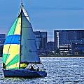 Sailing On Boston Harbor by Joe Faherty