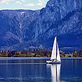 Sailing On Mondsee Lake by Lauri Novak