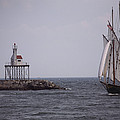 Sailing Vessel Entering Gloucester by Tim Laman