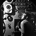 Sailor At Work In The Electric Engine by Stocktrek Images