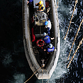 Sailors Conduct A Man Overboard Drill by Stocktrek Images