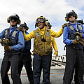 Sailors Fight A Simulated Fire Aboard by Stocktrek Images