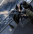 Sailors Fire A Dual-mounted M240 by Stocktrek Images