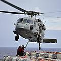 Sailors Hook An Ammunition Pallet To An by Stocktrek Images