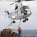 Sailors Hook Up A Pole Pendant by Stocktrek Images