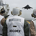 Sailors Observe An Aircraft On Board by Stocktrek Images