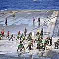 Sailors Perform A Flight Deck Wash by Stocktrek Images