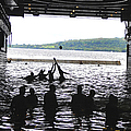 Sailors Play Football During A Swim by Stocktrek Images