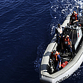 Sailors Stand Watch On A Rigid-hull by Stocktrek Images
