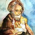Saint Joseph And Child by Myrna Migala