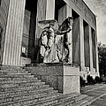 Saint Louis Soldiers Memorial Exterior Black And White by Joshua House
