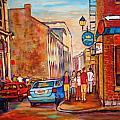Saint Paul Street  Montreal by Carole Spandau