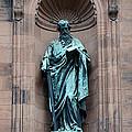 Saint Peter Statue - Historic Philadelphia Basilica by Gary Whitton