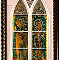 Saints In The Window by DigiArt Diaries by Vicky B Fuller
