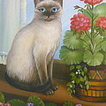 Samantha The Siamese Cat by Vivian Eagleson