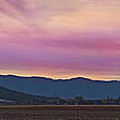 Sams Valley Panoramic Sunset by Mick Anderson