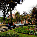 San Blas Park In Cuenca Ecuador by Al Bourassa