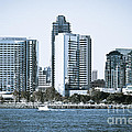 San Diego Downtown Waterfront Buildings by Paul Velgos