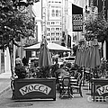 San Francisco - Maiden Lane - Outdoor Lunch At Mocca Cafe - 5d17932 - Black And White by Wingsdomain Art and Photography