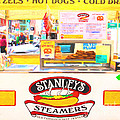 San Francisco - Stanley's Steamers Hot Dog Stand - 5d17929 - Square - Painterly by Wingsdomain Art and Photography