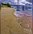 San Francisco Bay Bridge And Beach by Blake Richards