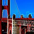 San Francisco Golden Gate Bridge Electrified by Wingsdomain Art and Photography