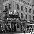 San Francisco Marquards Little Cigar Store Powell Street - 5d17950 - Black And White by Wingsdomain Art and Photography