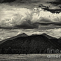San Francisco Peaks In Black And White by Joshua House