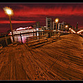 San Francisco Red Sky Pier by Blake Richards