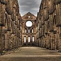 San Galgano  - A Ruin Of An Old Monastery With No Roof by Joana Kruse