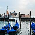 San Giorgio Maggiore And Gondolas by David Waldo