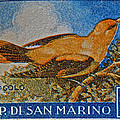 San Marino 1 Lire Stamp by Bill Owen