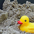 Sand Pile And Ducky by Randy J Heath