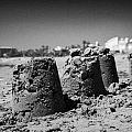 Sandcastles On Cyprus Tourist Organisation Municipal Beach In Larnaca Bay Republic Of Cyprus Europe by Joe Fox