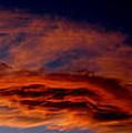 Sandia Heights Fiery Sunset Panoramic by Aaron Burrows