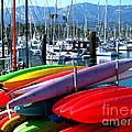 Santa Barbara Harbor by Jerome Stumphauzer