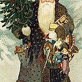 Santa Claus With Toys by American School