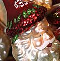 Santa Glass Ornament by LeeAnn McLaneGoetz McLaneGoetzStudioLLCcom