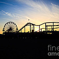 Santa Monica Pier Sunset Photo by Paul Velgos