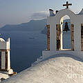 Santorini Churches by Bob Christopher