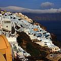 Santorini Cliff View by Bob Christopher
