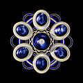 Sapphire And Gold Brooch by Hakon Soreide