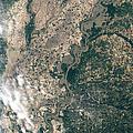 Satellite Image Of Flood Waters by Stocktrek Images