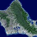 Satellite Image Of Oahu, Hawaii by Stocktrek Images