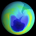 Satellite Map Of Antarctic Ozone Depletion, 1999 by Nasa